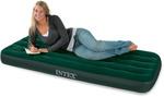 Кровать Intex Downy 76x191x22 см флок, встроенный ножной насос 66950
